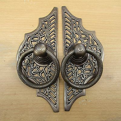 "8.25""Inches Vintage Solid Brass Front Door Knocker with Pull Ring KNOCKER KN10"