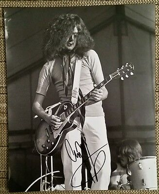 Jimmy Page Led Zeppelin Hand Signed Autograph 8 x 10 Photo COA AUTHENTIC RARE
