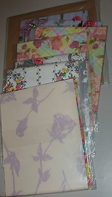 ~~~Beautiful SIX packages of Flowers/Variety Wrapping Paper PLUS more~~~