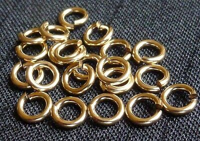 14/20K Gold filled open jump rings hard snap 4mm jewelry supplies findings