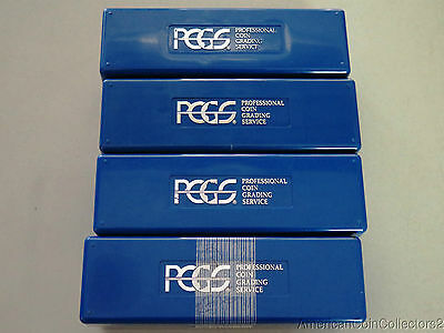(4) Pre Owned Empty Pcgs Blue Box 20 Slab Storage Containers | Take A Look|5638