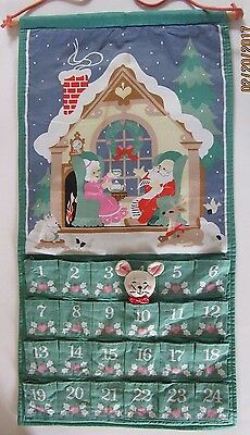 Avon Advent Calendar Vintage with Mouse 1987 Countdown to Christmas Free Shippin