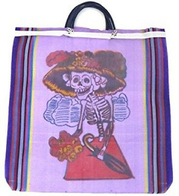 #93Six Lot Tote Shopping Bag Day of the Dead Reusable Grocery Market Mexico Sack