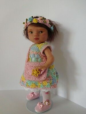 Original art doll OOAK, polymer clay toddler girl .9,5 inches by Bettymoni