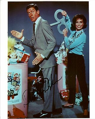 Mary Tyler Moore and Dick VanDyke Signed Photo