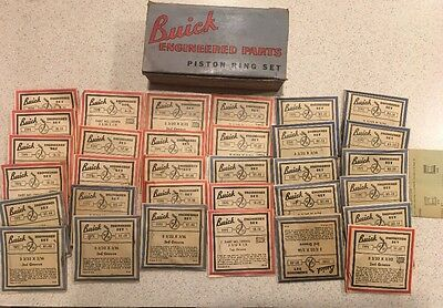 Vintage Buick Piston Ring Set 1940s / Sign / Advertising Display Gas Station #1