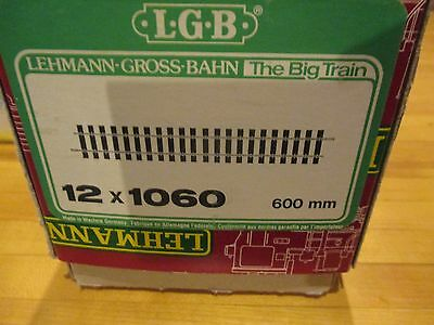 LGB 1060 24 Inch Brass Straight Track 12 Pieces in a Box lot # 2 w Free ship!