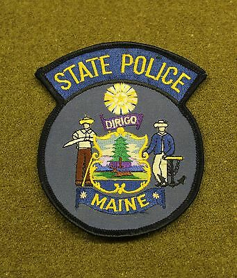 28978) Patch Maine State Police Department Sheriff Uniform Insignia