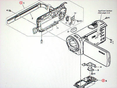 GENUINE  PARTS FOR  SONY HDR-CX110 CX100 CX150 please read first