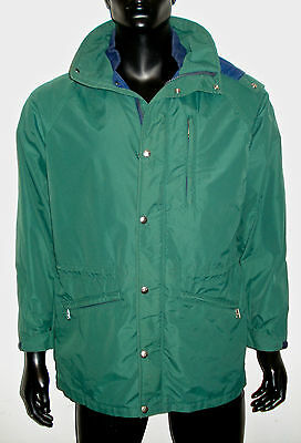 north face mens gore-tex waterproof shell jacket forest green navy blue medium