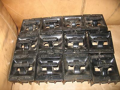 12 Vintage  Fuse Pullout Holder pull fuses lot antique ,.