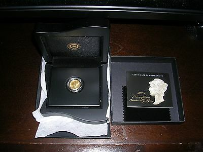 2016 W Mercury Dime Gold Centennial Commemorative Coin With Box@coa (Look)