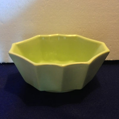 "Hull pottery planter soft matte green oblong panelled, rare color 6"" #447~USA"
