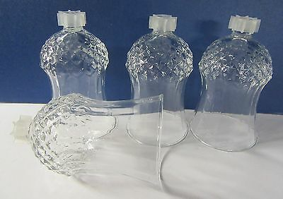 2 Vintage Glass Peg Candle Votive Cups With Adapters Home Interiors (U)