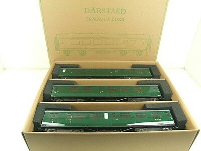 Darstaed O Gauge BR Green Bulleid Corridor Coaches x3 Set A 2/3 Rail B/New Boxed