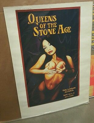 Queens Of The Stone Age 2000 London Uk Poster * Test Print The Astoria