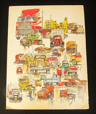 "32"" X 24"" Original Signed Watercolor ""Tanfield"" Trucking Industry Cenex Art Dept"