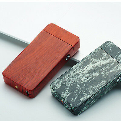 Electric USB Rechargeable Flameless Tesla Coil Cigarette Dual Lighter Mens Gift