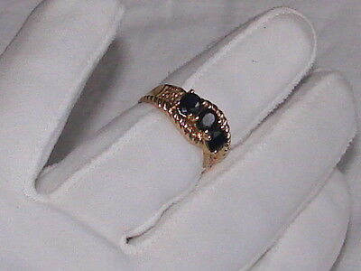 14K Yellow Gold Natural Sapphire With Diamond Ring. Not Scrap.