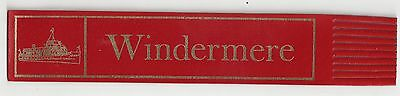 Windermere. Red Leather English Bookmark.