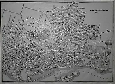 Wonderful Antique 1917 City Map Montreal, Quebec, QC, Canada World War WWI L@@K!
