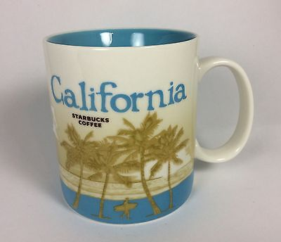 Starbucks CALIFORNIA 2011 16 oz Coffee Cup Mug Global Icon Collection Series
