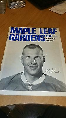Official Toronto Maple Leafs Game Programme Dec 25 1965 Vintage