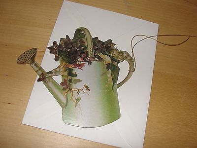 THE GIFTED LINE Springtime Watering Can Gift Tag w/String and Envelope