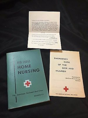 1951 American Red Cross Home Nursing Textbook Book  w/ Supplement