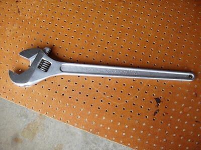 """24"""" CRESTOLOY CRESCENT WRENCH U.S.A. 610mm ADJUSTABLE HAND TOOL GOOD CONDITION"""