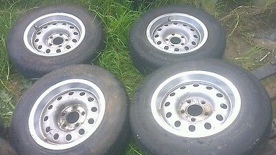 """Ford/Trailer 14""""x6"""" wheels/tyres"""