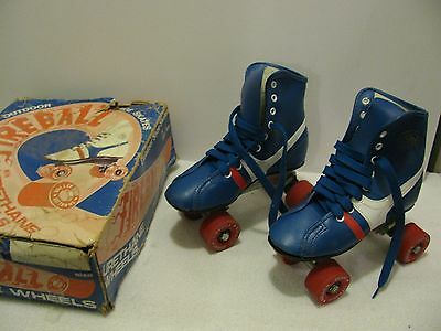 Roller Derby Vintage Skates Fireball SIZE 1 Youth IOB