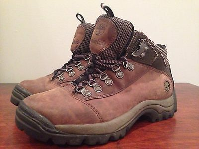 TIMBERLAND Performance Leather Women's Hiking Boots Brown Sz 6.5 #81694