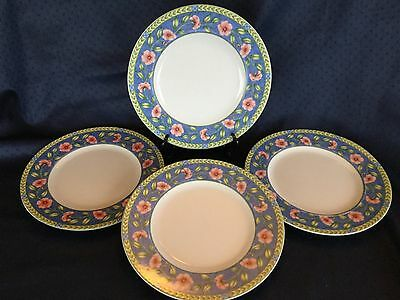 Set of 4 Coventry PTS International Porcelain Rose Bouquet Dinner Plates 10 3/4  & SET OF 4 PTS/Coventry BLUE GINGHAM 4 dinner plates - $29.99 | PicClick