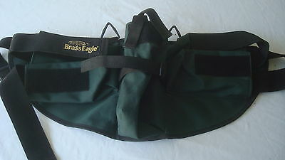 PAINTBALL Harness Fanny Pack Ball Hauler Sturdy Green Horizontal / Center Pocket