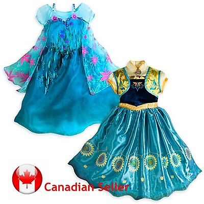 Frozen Fever Elsa & Anna Dress Custumes