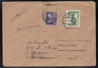 Austria USA 1949 DRUCKSACHE OUT OF DELIVERY LIMITS Mixed Frank Cover F