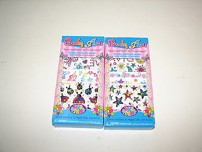 Lisa Frank Colorful Rainbow Body Art Packs Glitter Nail Decals Tattoos Stickers