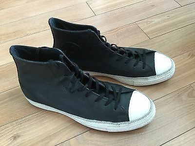 Men's Converse Chuck Taylor All Star Black Leather Sneakers Size 10