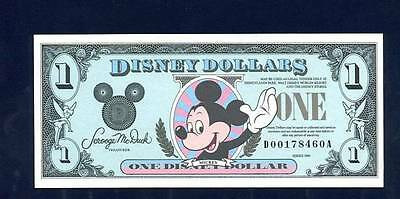 Disney Dollars, 1990D, Uncirculated, The Fourth Year