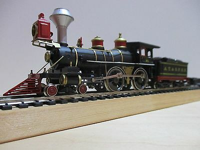 Ho Scale Rivarossi / I.h.c 4-4-0 Old Time Wood Burner In Black Livery A.t.&.s.f.