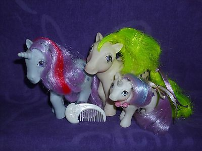 My Little Pony G1 Unicorn & Pegasus Lot with Sparkler, Surprise and Baby Glory