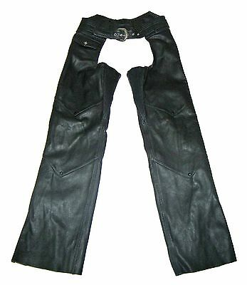 【NEW】Ladies Harley-Davidson Leather Biker Motorcycle Riding Chaps! XS(30-34)