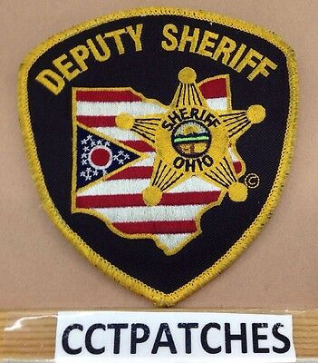 Vintage Ohio Counties Deputy Sheriff (Police) Shoulder Patch Oh 4
