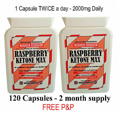 Raspberry Ketone Max Capsules Weight Loss Fat Burners Slimming Diet Pills Bid.06