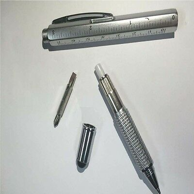 6 In 1 Men Gift 1pc Ballpoint Pen Ruler Multi-functional Tool Screwdriver