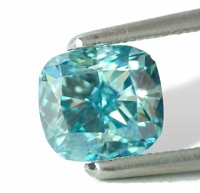 1.06 carat Fancy Intense Blue VVS2  Loose Natural Diamond  Cushion Cut Shape !!!