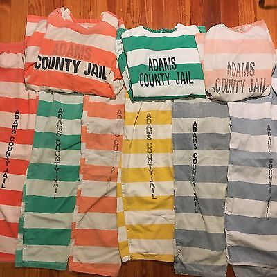 Authentic county jail scrubs. 3 Shirts, 6 Pants