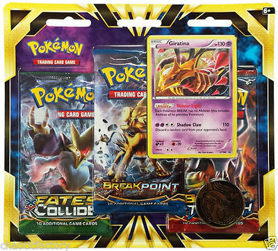 Pokemon TCG XY - Fates Collide 3 Booster Blister Pack Giratina FREE SHIPPING