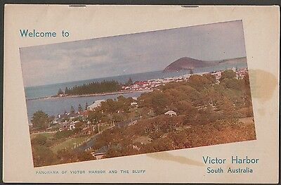 k2239)  WELCOME TO VICTOR HARBOUR SOUTH AUSTRALIA - VINTAGE TOURIST GUIDE BOOK